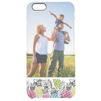 Kundenspezifische Foto-Ananasgrunge-Palmen Durchsichtige iPhone 6 Plus Hülle