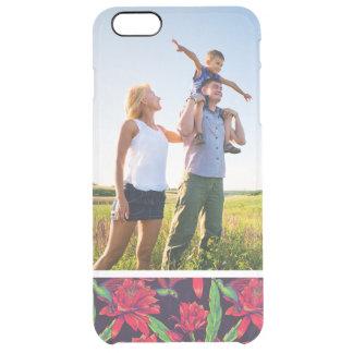 Kundenspezifische Foto-Blumen und Kolibris Durchsichtige iPhone 6 Plus Hülle