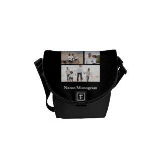 Kundenspezifische Foto-Collage Kurier Taschen