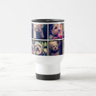 Kundenspezifische Foto-Collage mit quadratischen Edelstahl Thermotasse