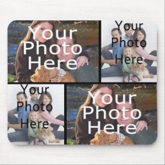 Kundenspezifische Foto-Collage Mousepad addieren