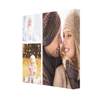 Kundenspezifische Foto-Collagen-Leinwand - weißer Leinwanddruck