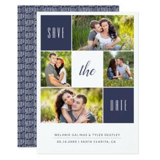 Kundenspezifische Foto-Collagen-Save the Date Karte