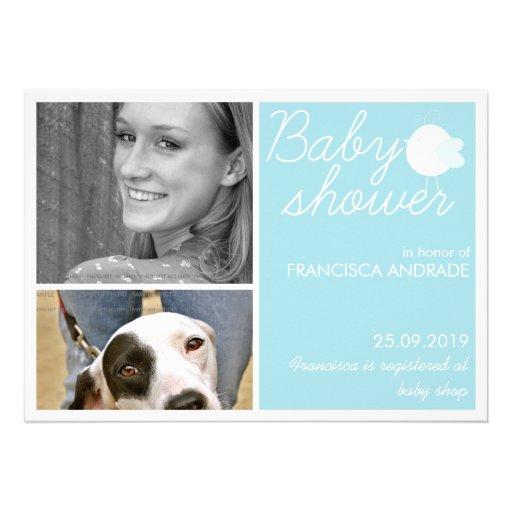 Kundenspezifische Foto-Einladungen für Baby-Dusche