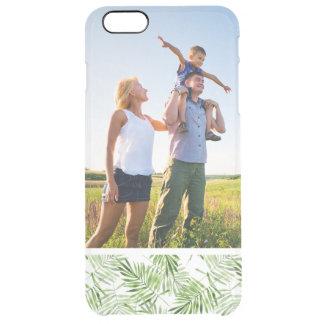 Kundenspezifische Foto-Grün-Palmblätter Durchsichtige iPhone 6 Plus Hülle