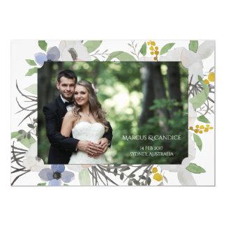 Kundenspezifische Foto-Hochzeits-Einladungs-Karte Karte