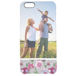 Kundenspezifische Foto-Rosa-Orchideen in der Blüte Durchsichtige iPhone 6 Plus Hülle