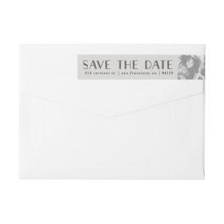 Kundenspezifische Foto-Save the Date Aufkleber des