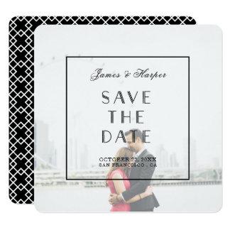 Kundenspezifische Foto-Save the Date Karte des Quadratische 13,3 Cm Einladungskarte