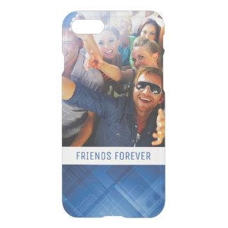 Kundenspezifische Foto u. Text dunkelblauer iPhone 8/7 Hülle