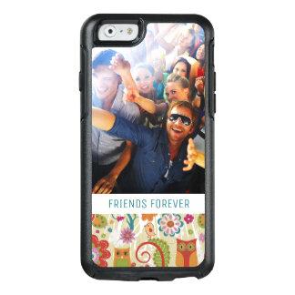 Kundenspezifische Foto-u. Text-Farbe mit Blumen OtterBox iPhone 6/6s Hülle