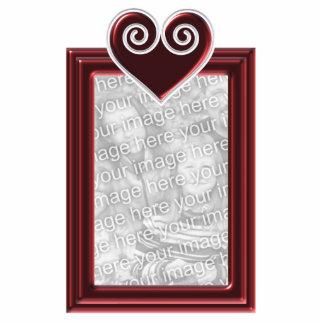 Kundenspezifische Foto-Verzierungs-roter Fotoskulptur Ornament