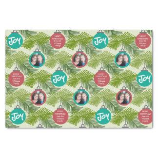 Kundenspezifische Foto-Weihnachtsbaum-Verzierungen Seidenpapier