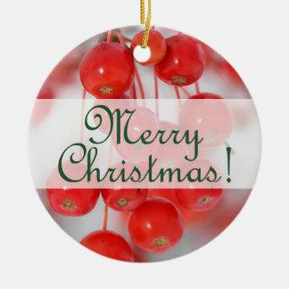 Kundenspezifische frohe Retro Weihnachten 2016 mit Rundes Keramik Ornament