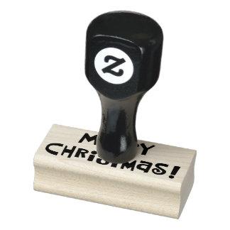 """Kundenspezifische """"frohe Weihnachten """" Gummistempel"""