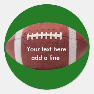 Kundenspezifische Fußball-Aufkleber Runder Aufkleber