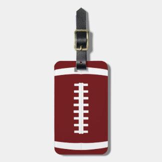 Kundenspezifische Fußball-Team-Farbe, Name und Kofferanhänger