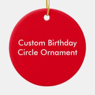 Kundenspezifische Geburtstags-Kreis-Verzierung Keramik Ornament