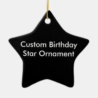 Kundenspezifische Geburtstags-Stern-Verzierung Keramik Ornament