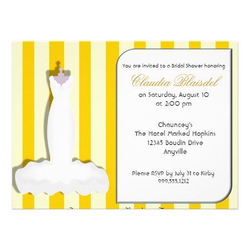Kundenspezifische gelbe Brautparty-Einladungen