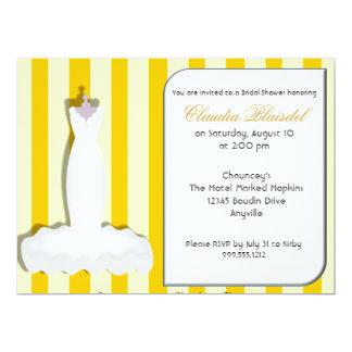 Kundenspezifische gelbe Brautparty-Einladungen 16,5 X 22,2 Cm Einladungskarte