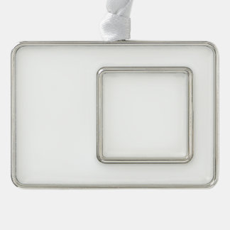 Kundenspezifische gerahmte Verzierung - horizontal Rahmen-Ornament Silber