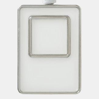 Kundenspezifische gerahmte Verzierung - Vertikale Rahmen-Ornament Silber