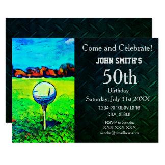 Kundenspezifische Golf spielende der 12,7 X 17,8 Cm Einladungskarte