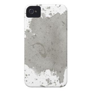 Kundenspezifische graue Spritzer-Schablone iPhone 4 Case-Mate Hülle