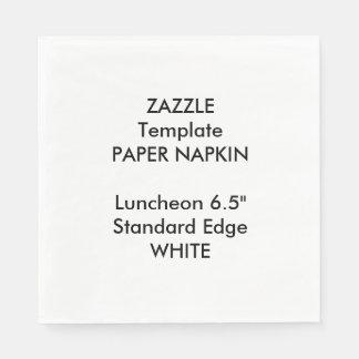 Kundenspezifische große WEISSE Papierserviette