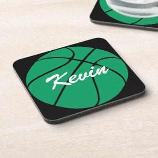 Kundenspezifische grüne Basketball-Untersetzer Untersetzer