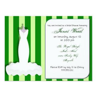 Kundenspezifische grüne Brautparty-Einladungen 16,5 X 22,2 Cm Einladungskarte