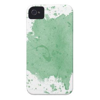 Kundenspezifische grüne Spritzer-Schablone iPhone 4 Case-Mate Hülle