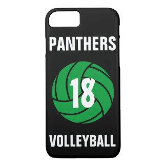 Kundenspezifische grüne Volleyball-Zahl u. iPhone 8/7 Hülle
