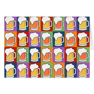 Kundenspezifische Grußkarte der BIER Pop-Kunst