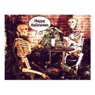 Kundenspezifische Halloween-Skelette, die Karte Postkarte