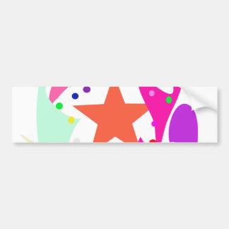 Kundenspezifische Hintergrund-Farborange Stern Auto Sticker