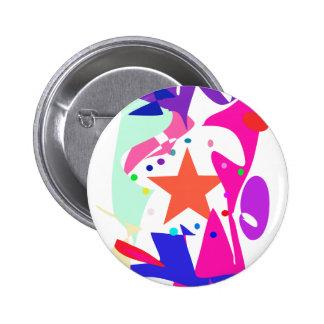 Kundenspezifische Hintergrund-Farborange Stern Anstecknadelbuttons