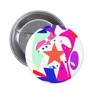 Kundenspezifische Hintergrund-Farborange Stern Button