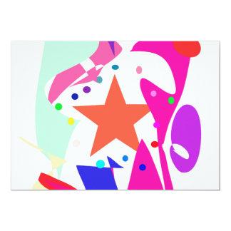Kundenspezifische Hintergrund-Farborange Stern Personalisierte Ankündigungskarte
