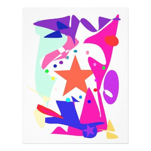 Kundenspezifische Hintergrund-Farborange Stern Flyer Druck