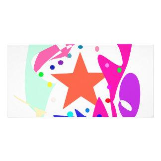Kundenspezifische Hintergrund-Farborange Stern Bild Karte