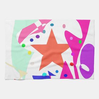 Kundenspezifische Hintergrund-Farborange Stern Küchenhandtuch