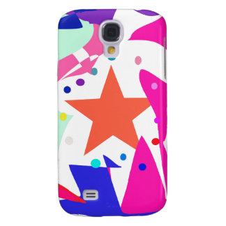 Kundenspezifische Hintergrund-Farborange Stern Galaxy S4 Hülle