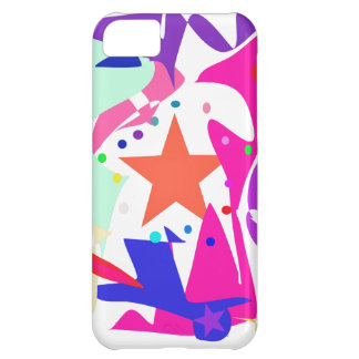 Kundenspezifische Hintergrund-Farborange Stern iPhone 5C Schale