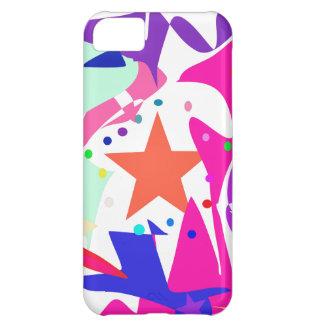Kundenspezifische Hintergrund-Farborange Stern Hüllen Für iPhone 5C