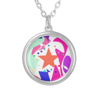 Kundenspezifische Hintergrund-Farborange Stern Amuletten