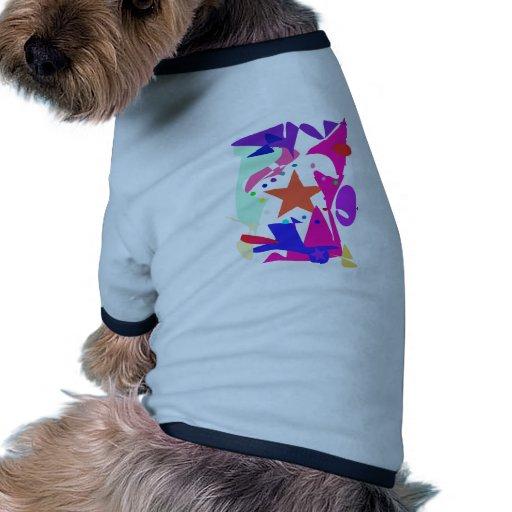 Kundenspezifische Hintergrund-Farborange Stern Haustierhemden