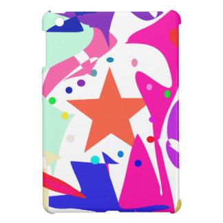 Kundenspezifische Hintergrund-Farborange Stern iPad Mini Schutzhülle