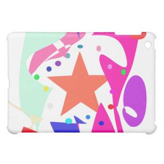 Kundenspezifische Hintergrund-Farborange Stern iPad Mini Cover